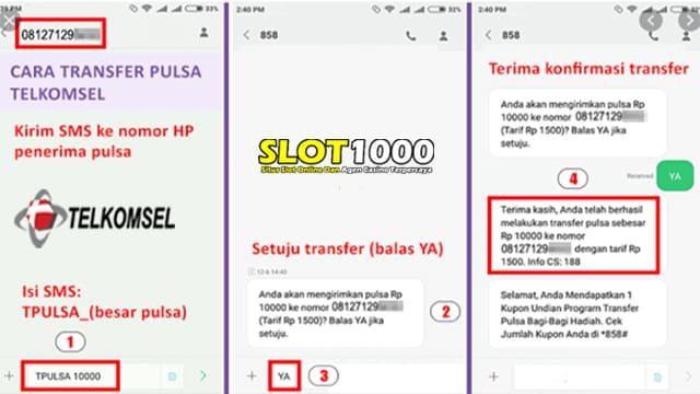 cara transfer pulsa telkomsel - slot1000